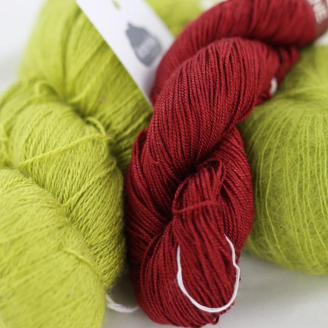 Kremke Soul Wool Garnpaket Tuch Karibikstrand Apfel mit Kirsche