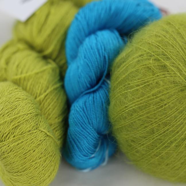 Kremke Soul Wool Garnpaket Tuch Karibikstrand Apfeltürkis