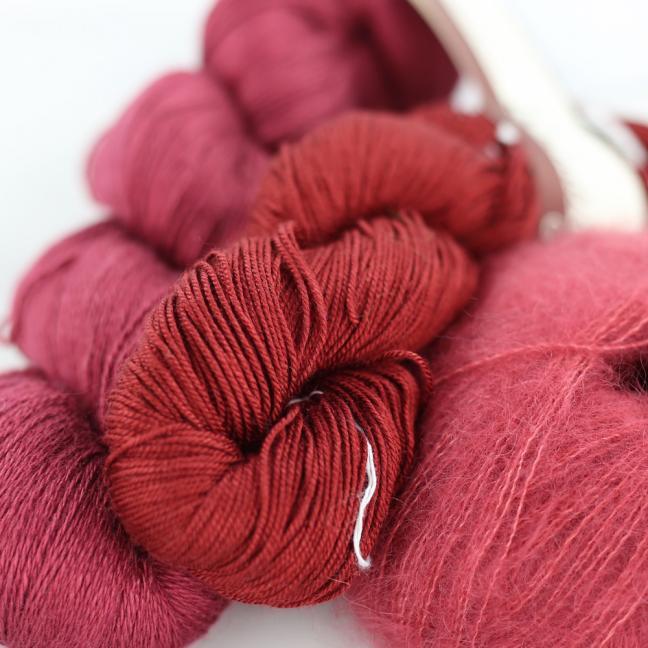 Kremke Soul Wool Garnpaket Tuch Karibikstrand Ziegelrot