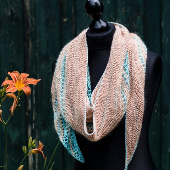 Kremke Soul Wool Garnpaket Tuch Karibikstrand  Karibikstrand