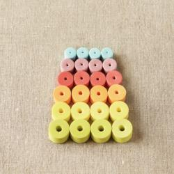 CocoKnits Mixed Stitch Stoppers colorful or natural Colorful