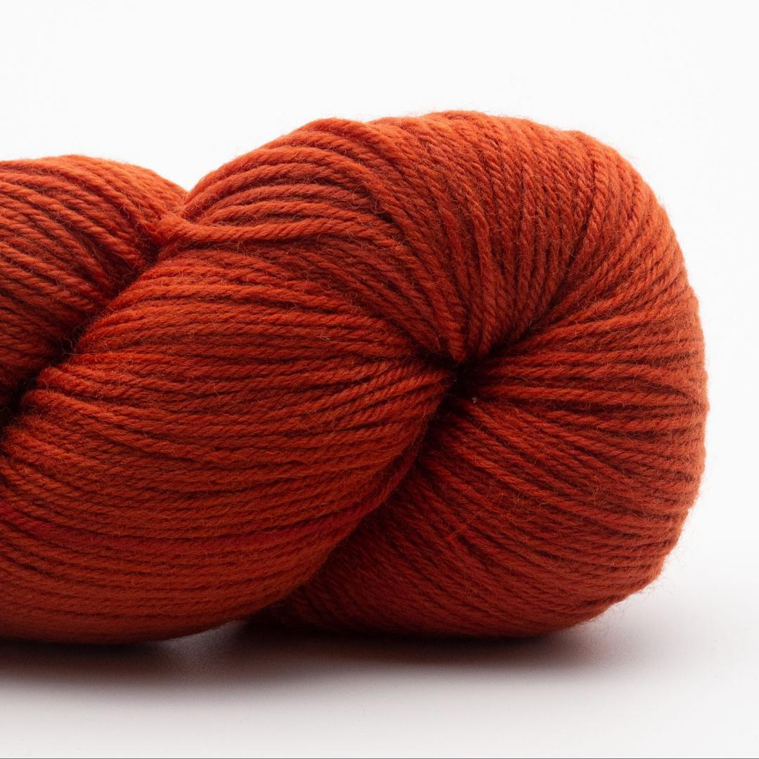 Kremke Soul Wool Lazy Lion Sock Yarn Semi Solid Burnt Orange