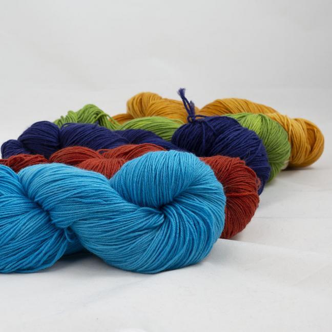 Kremke Soul Wool Lazy Lion Sock Yarn semi solid Mix  Mix-Paket