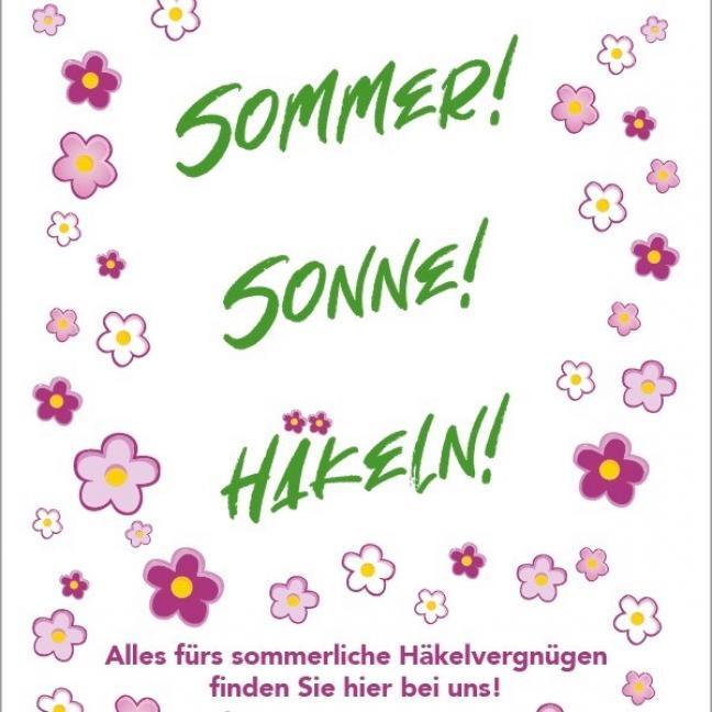 BC Garn Poster Sommer Sonne Häkeln Aufsteller