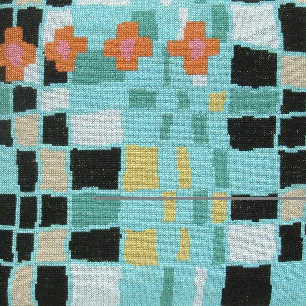 Fru Zippe Pink und Orange Kissen 74 P8  Muster in Pink und Orange