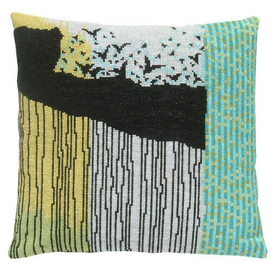 Fru Zippe Pillow abstract birds 74 P25