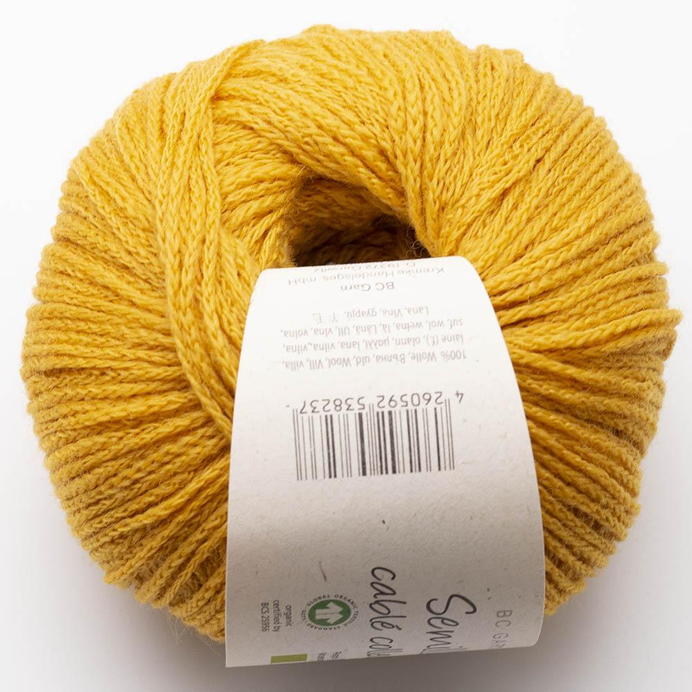 BC Garn Semilla Cablé GOTS Mineral Yellow