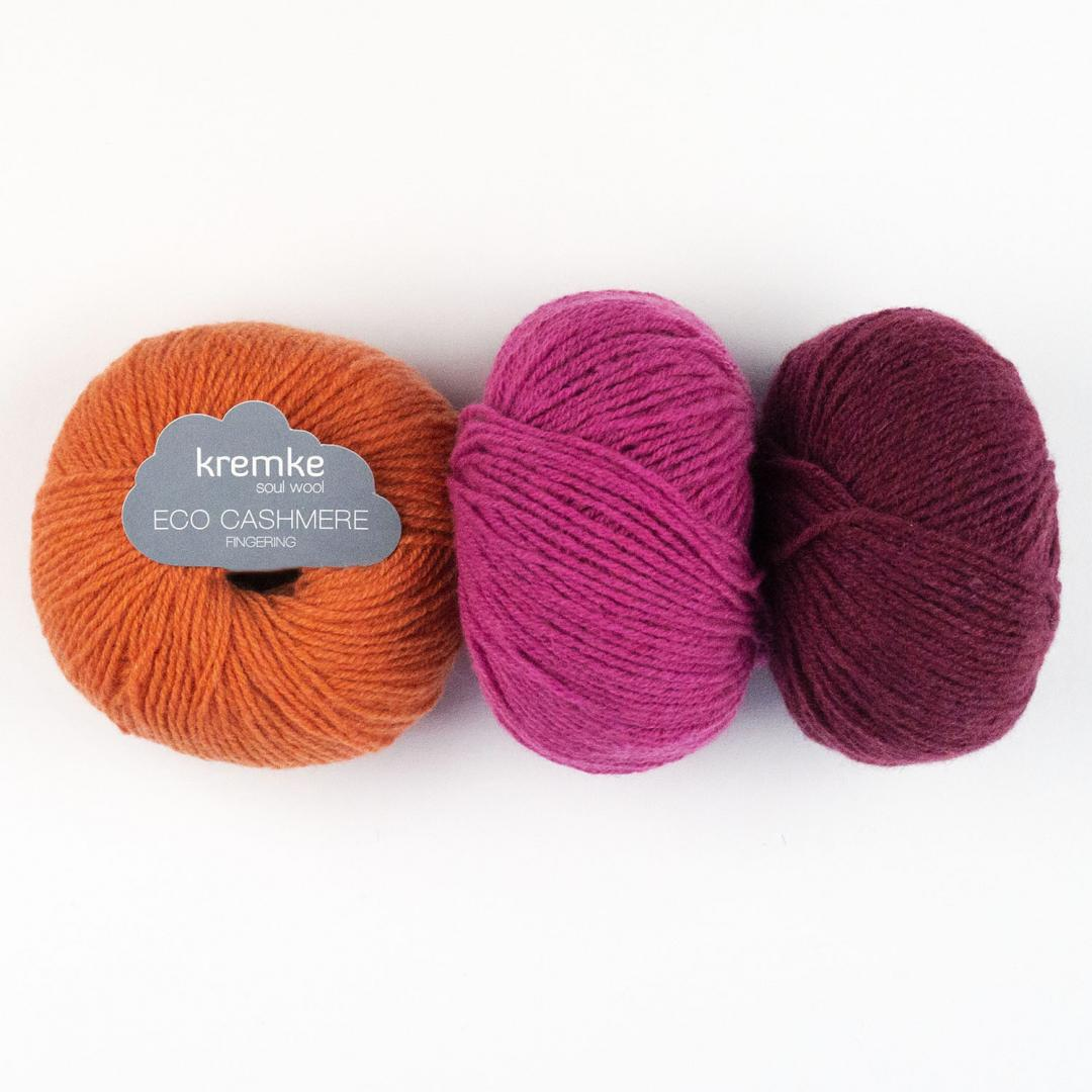 Kremke Soul Wool Eco Cashmere Fingering 25g  Rosa