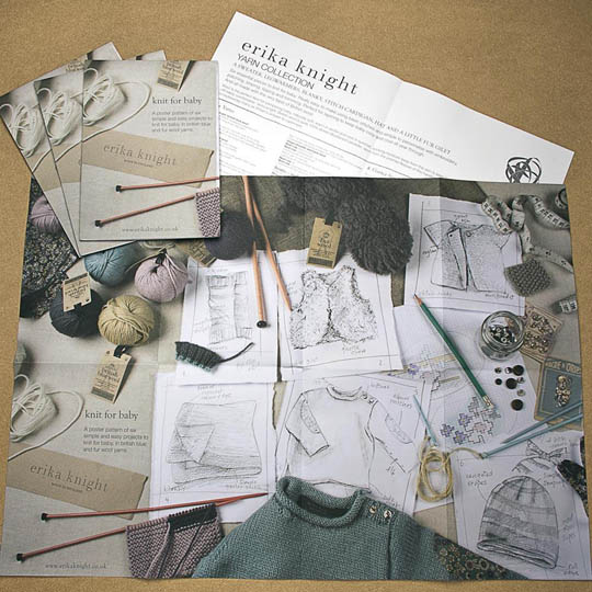 Erika Knight Printed Pattern Posters