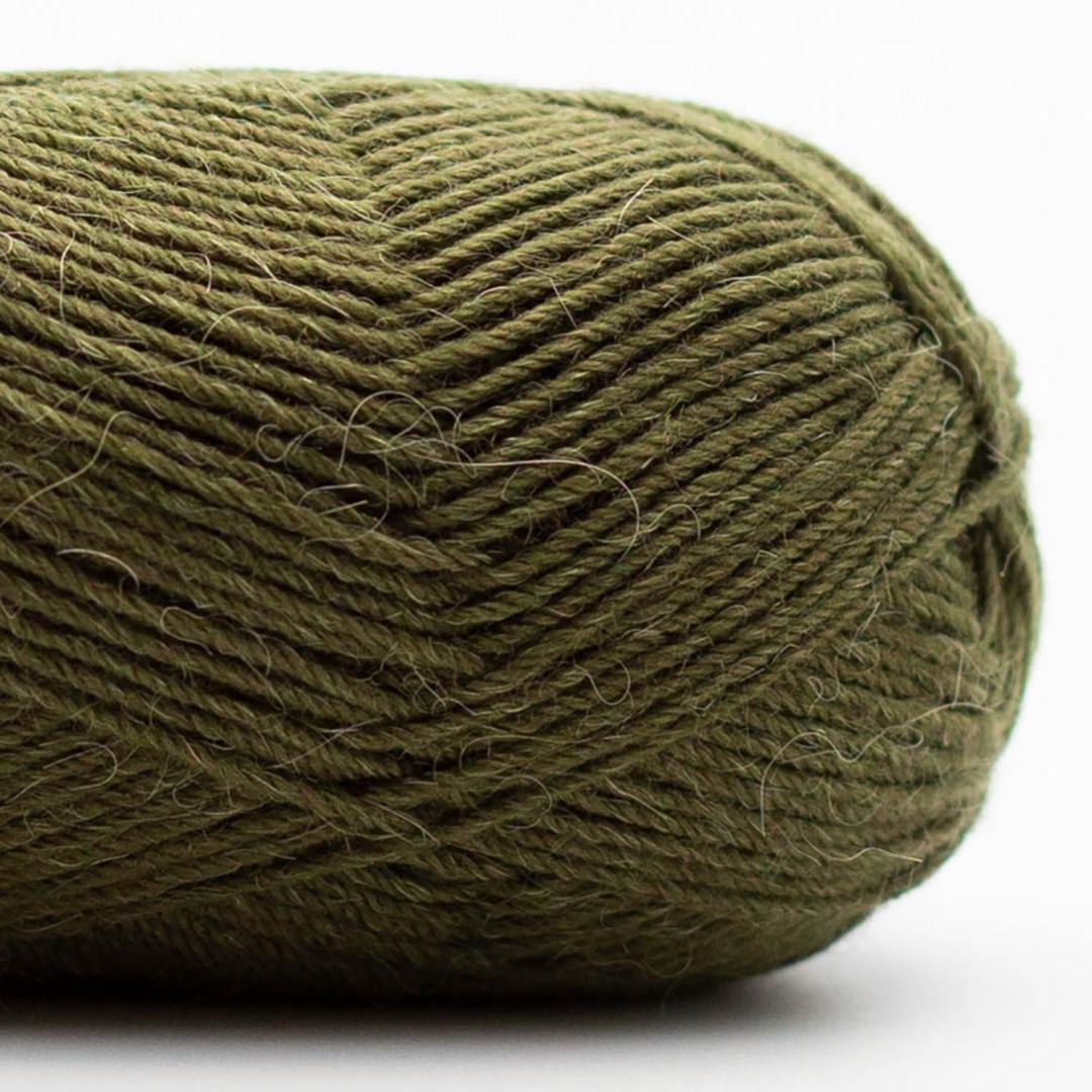 Kremke Soul Wool Edelweiss Alpaca 25 Dunkeloliv