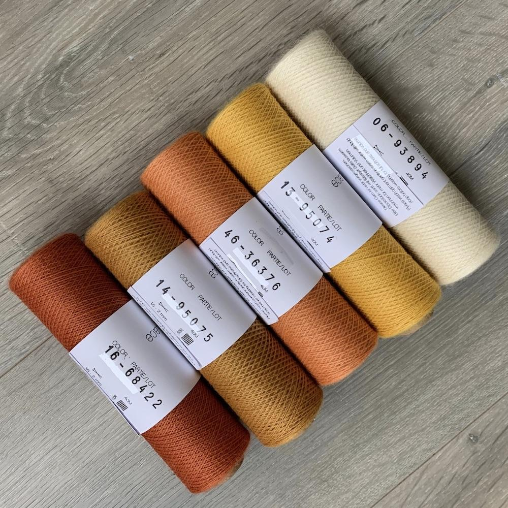 Kremke Soul Wool Garnpaket Schal Marling in Sequence Kürbis