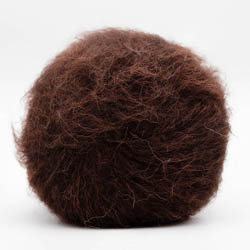 Kremke Soul Wool Baby Silk Fluffy solid Chocolate