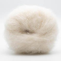Kremke Soul Wool Baby Silk Fluffy solid White