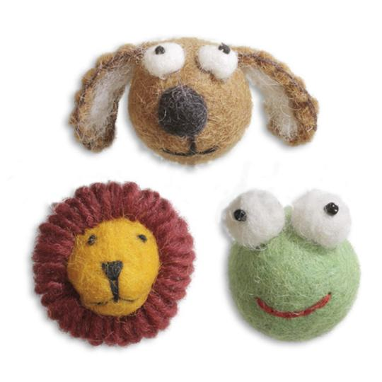 Jim Knopf Felted animal faces