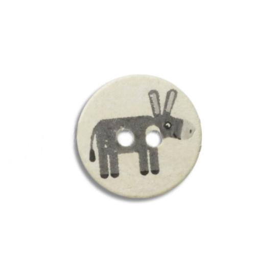 Jim Knopf Cute plastic button with donkey 16mm