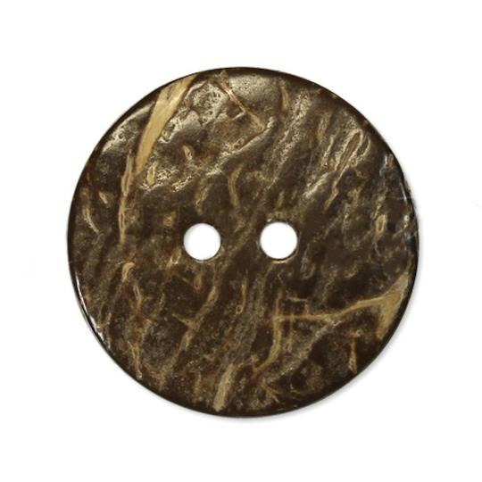 Jim Knopf Coco wood button with interesting texture several sizes