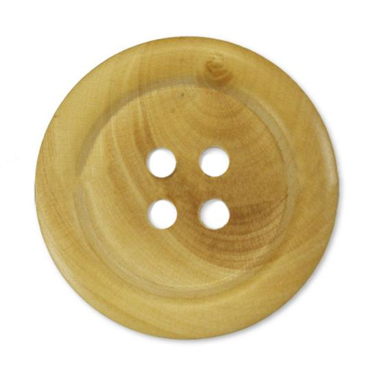 Jim Knopf Wood button natural color in several sizes