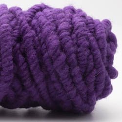 Kremke Soul Wool RUGby Teppichwolle gefärbt Lila