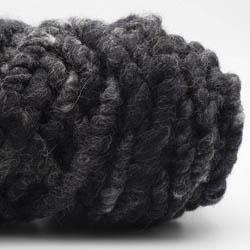 Kremke Soul Wool RUGby Teppichwolle gefärbt Anthrazit-Meliert