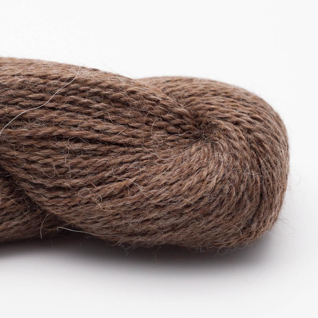 BC Garn Babyalpaca 10/2 brown heather (undyed)