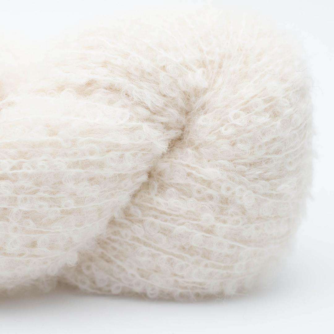 Kremke Alpaca Bouclé Naturweiß