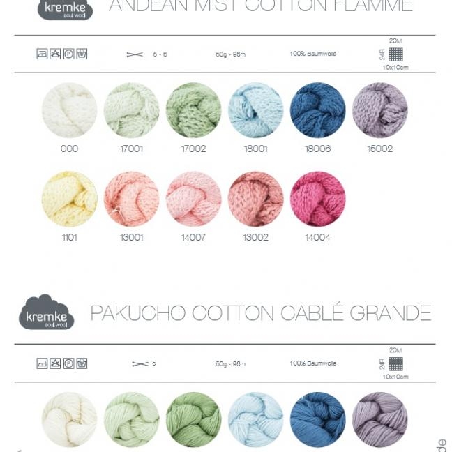 Kremke Farbkarten von Kremke Soul Wool Andean Mist Pakucho gedruckt_DE