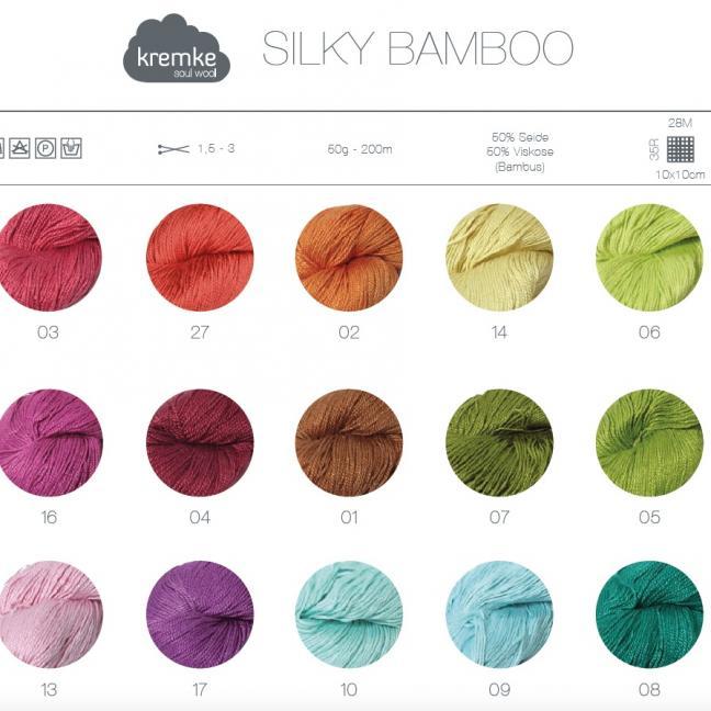 Kremke Farbkarten von Kremke Soul Wool Silky Bamboo_gedruckt_DE