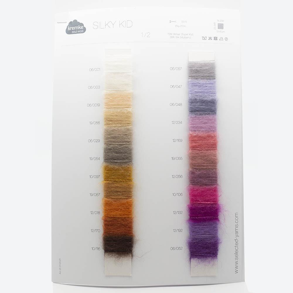 Kremke Farbkarten von Kremke Soul Wool Silky Kid Garn