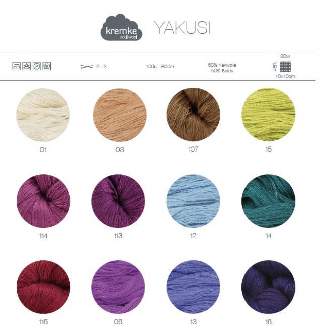 Kremke Farbkarten von Kremke Soul Wool YakuSi gedruckt DE