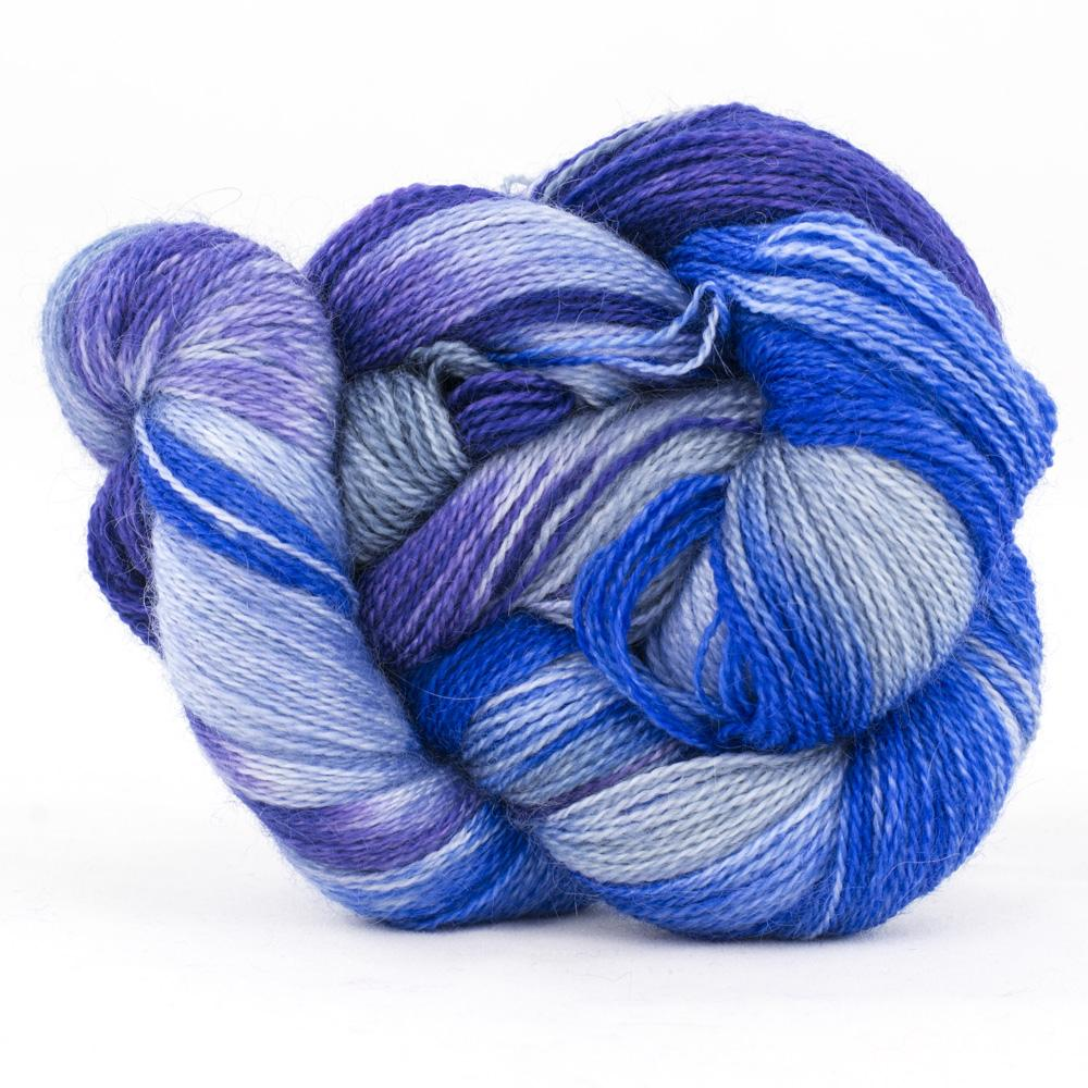Cowgirl Blues Mohair Wool 2Ply Lace gradient